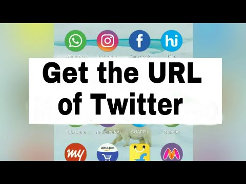 How To Get URL of Twitter account by Android