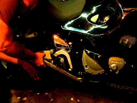 2006 Suzuki Katana Delkevic Carbon Exhaust 14in