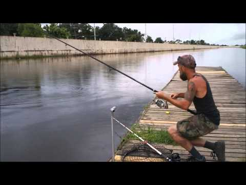Fishing for Alligator Gar before the storm