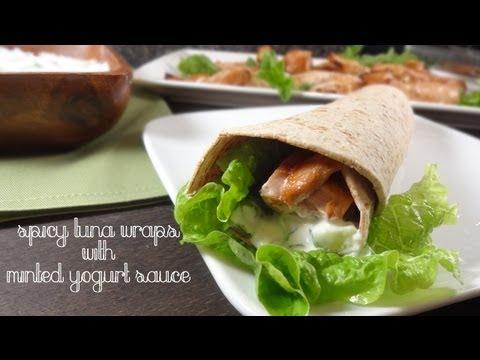 Spicy Tuna Wraps with Minted Yogurt Recipe