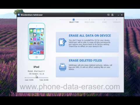 How to Erase All or Deleted iPod Data Without Restore by Wondershare SafeEraser