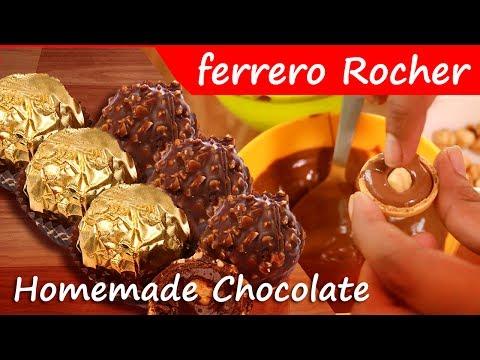 Christmas Special Recipes - Ferrero Rocher Chocolate | Home Made Ferrero Rocher Chocolate Recipe |