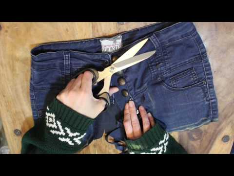 DIY No Sew Utility Belt from Old Jeans for Burning Man