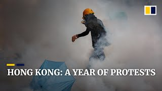 A year of anti-government protests in Hong Kong