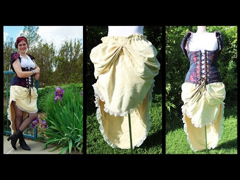 Bustle Skirt for Steampunk Snow White Cosplay How to - Whitney Sews