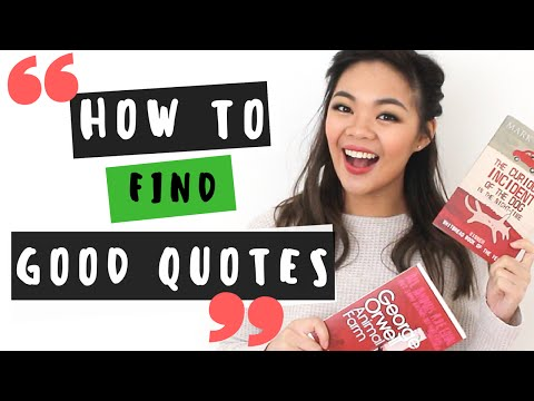 5 ways to find good quotes in English books | Back to school tips 2016