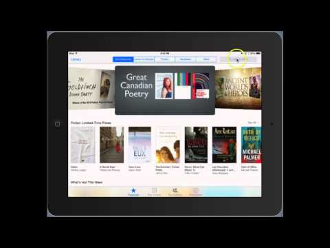 Purchasing an eBook from the iBooks Store