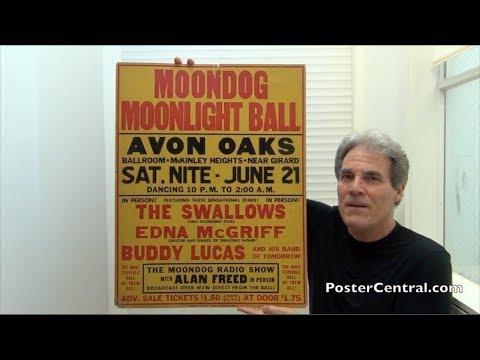 Alan Freed 1952 Moondog Moonlight Ball Concert Poster