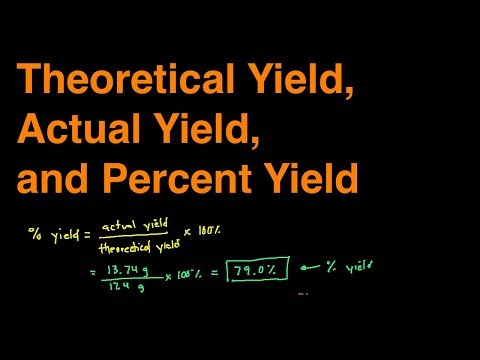 How to Find Actual Yield, Theoretical Yield, and Percent Yield