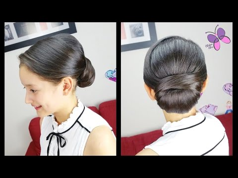 Low Chignon Hair Tutorial - NO extra Hair Pieces | Wedding Hairstyles | Prom Hairstyles