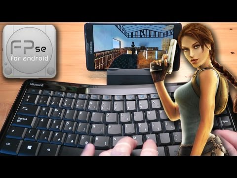 Samsung Galaxy Note 4 and FPse (PS1 emulator) with Bluetooth keyboard