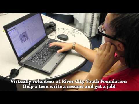 Virtually volunteer at RCYF and help a teen write a job resume!