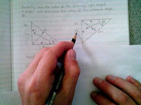 Trigonometry - Example 3 (calculating an unknown angle)