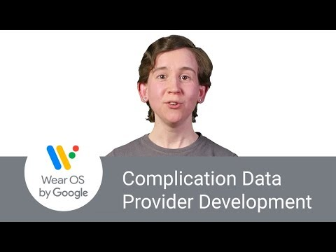 Introduction to Wear OS Complication Data Provider Development