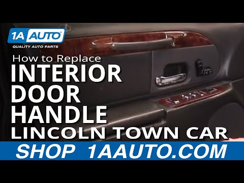How To Install Replace Inside Door Handle Lincoln Town Car 98-02 1AAuto.com