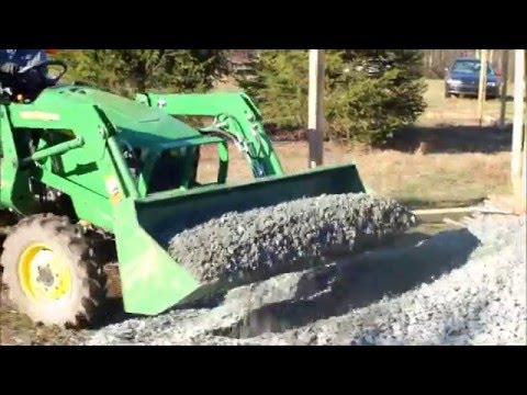 Making A Gravel Road With Box Blade