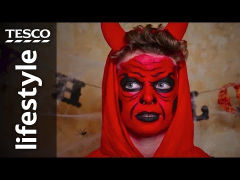 Halloween face-painting: Red devil | Tesco