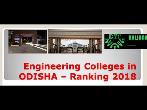 Engineering Colleges in Odisha - Ranking 2018