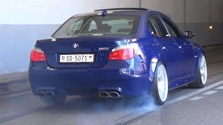 BMW M5 E60 with Eisenmann Race Exhaust! - LOUD V10 Sound & Burnouts!