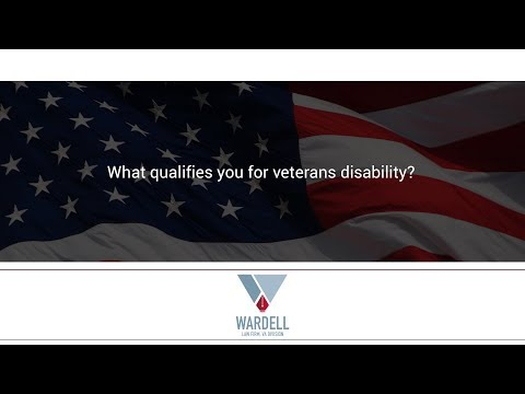 What qualifies you for veterans disability?