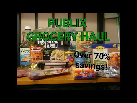 PUBLIX GROCERY HAUL 03/28|OVER 70% SAVINGS!