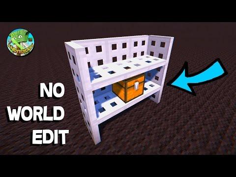 MAKE VERTICAL IRON TRAPDOOR SHELVES !- no world edit