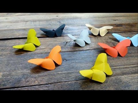 EASY!!! How to Make Simple Butterfly | Origami | Cara Membuat Kupu-kupu dari Kertas Melipat