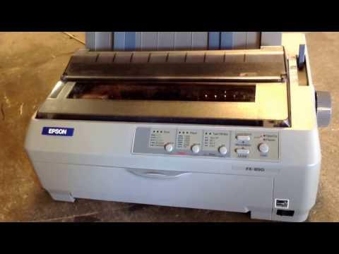 How to print a self test on an Epson FX-890 dot matrix printer