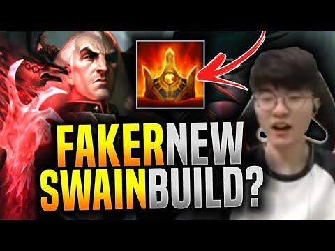 Faker Plays Swain with Shurelya's! ( NEW BUILD? ) - SKT T1 Faker Picks Swain Mid! | SKT T1 Replays