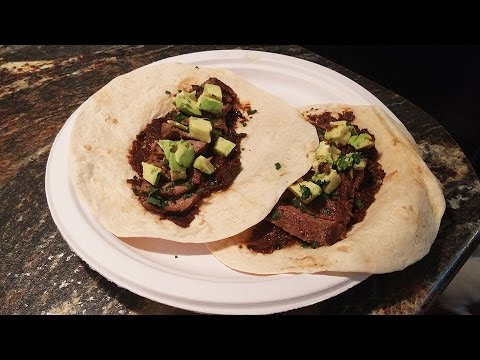 Steak Tacos w/ Mole Verde