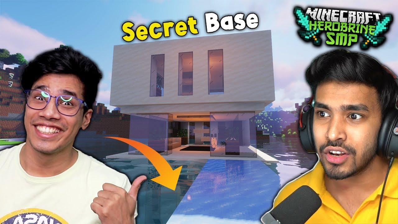 I Made A SECRET BASE In HEROBRINE SMP