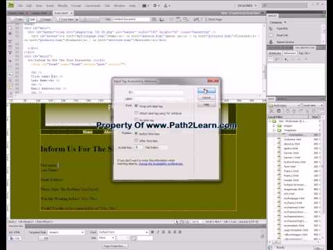 How to create a form in dreamweaver cs4 cs3 8 7 WWW.PATH2LEARN.COM