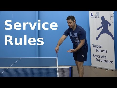 Service Rules | PingSkills | Table Tennis