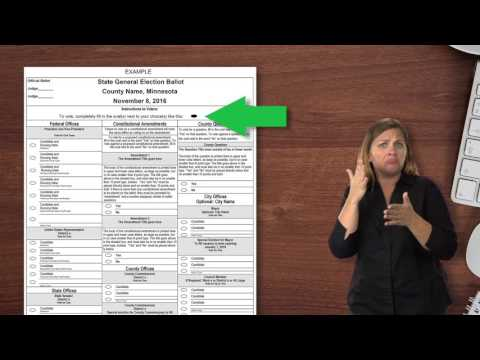 What to Do Once You've Received an Absentee Ballot and You're Registered (ASL / English)