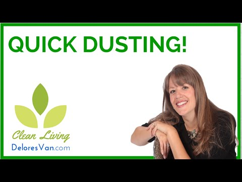 Norwex Clean Natural Green - How to Dust Polish Dusting Dark Wood Furniture / Jobs Self-Employed