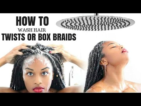 HOW TO WASH SENEGALESE TWISTS & MARLEY TWISTS WITHOUT FRIZZ