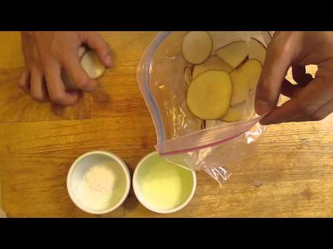 How to cook potato chips with Microwave oven