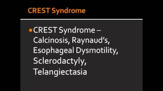 CREST Syndrome -- Calcinosis, Raynaud