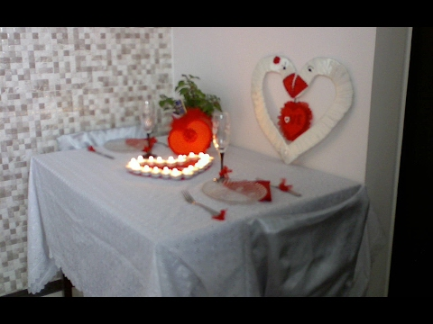 Tutorial. *How to decorate the table for Romantic dinner*