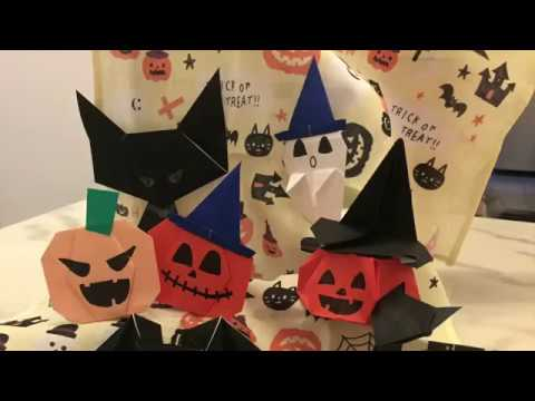 How to make: Spooky Ghost Origami for Halloween!! ハロウィーンオバげ折り紙 ❤ 萬聖節幽霊摺紙