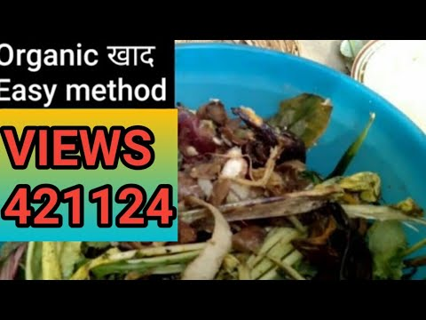 How to make organic fertilizer with house waste in hindi