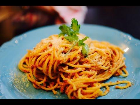 Pasta in Bolognese Sauce Recipe | Bolognese Spaghetti