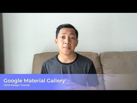 Get Started Google Material Gallery for UI/UX Designer