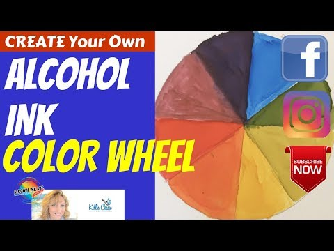 Alcohol Ink Color Wheel - Create with 3 Primary Colors