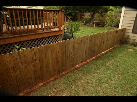 Brick Fence Border to Stop Grass and Weeds