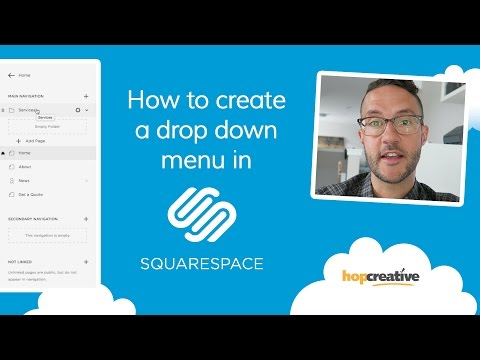 How to Create a DROP DOWN MENU in SQUARESPACE