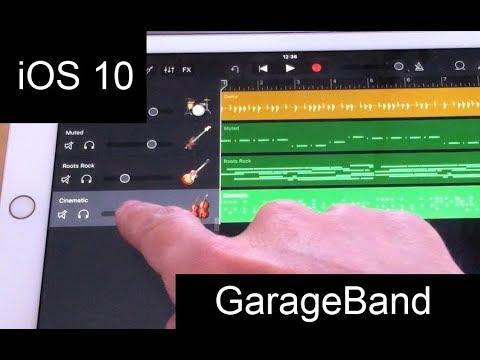 Garageband on iPad with iOS 10 - a tutorial