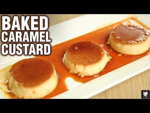 Baked Caramel Custard Recipe - How To Make Caramel Custard in Oven - Dessert Recipe - Neha