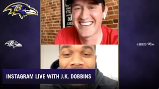 J.K. Dobbins Answers Fans' Questions on Instagram | Baltimore Ravens