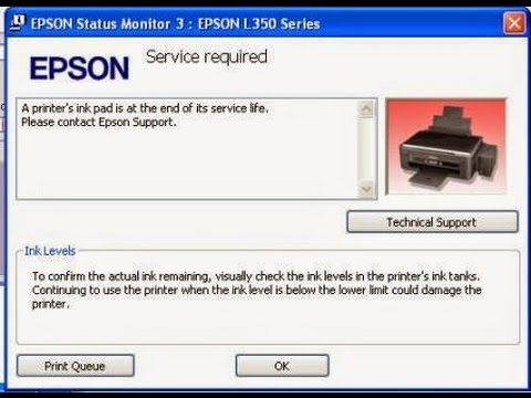Howto Reset waste ink pad counter epson l220 เคลียซับหมึก (17/12/2016)